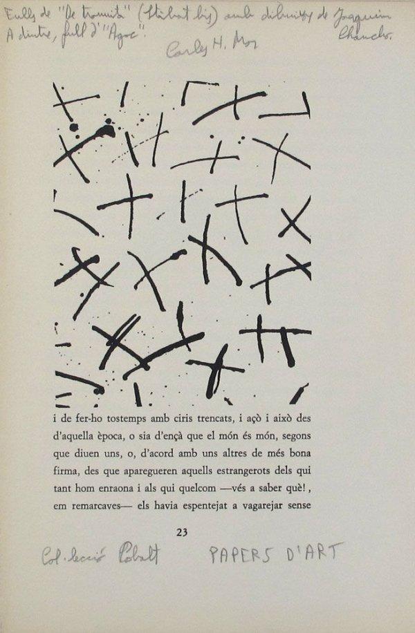 """[Conjunt de cinc exemplars de la publicació amb intervencions """"Papers d'art"""" (col·lecció cobalt)]"""