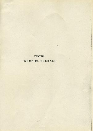 Textos Grup de Treball