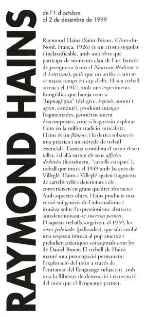 Raymond Hains [Flyer]
