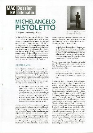 Michelangelo Pistoletto [Contingut educatiu]