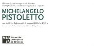 Michelangelo Pistoletto [Invitació]