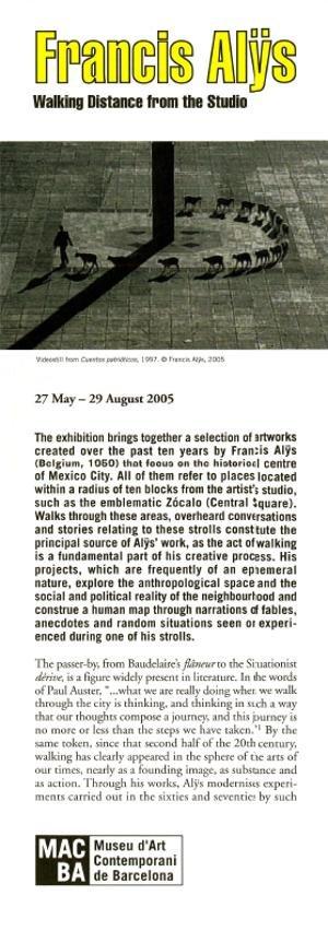 Francis Alÿs. Walking Distance from the Studio [Full de mà]