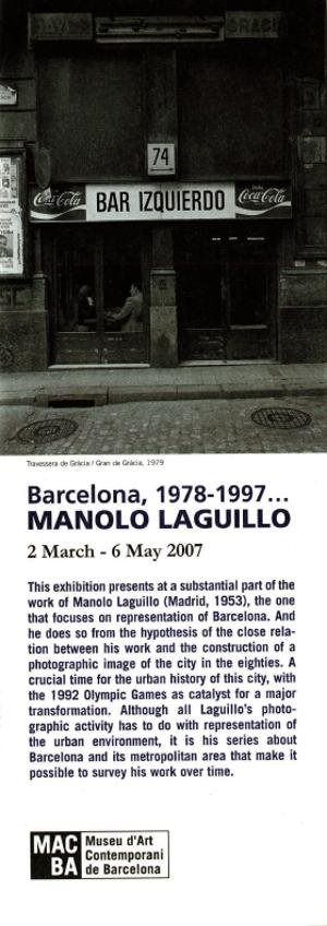 Barcelona, 1978-1997. Manolo Laguillo [Full de mà]