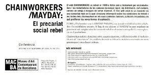 Chainworkers / Mayday: el precariat social rebel [Flyer]