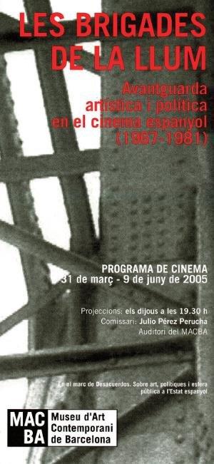 Les brigades de la llum. Avantguarda artística i política al cinema espanyol (1967-1981) [Full de mà]