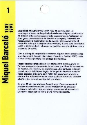 Miquel Barceló, 1987-1997 [Text sales]