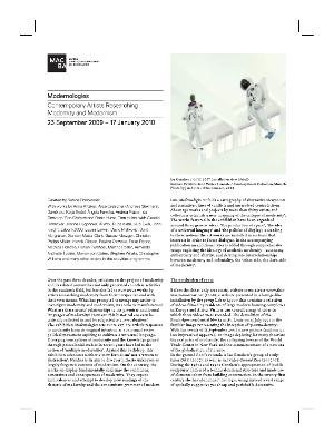 Modernologies. Contemporary artists researching modernity and modernism [Full de mà]