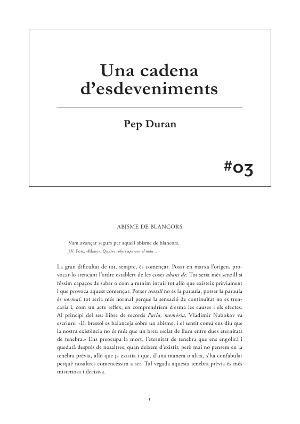#03 Pep Duran. Una cadena d'esdeveniments [Publicació]