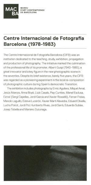 Centre Internacional de Fotografia de Barcelona (1978-1983) [Invitació]
