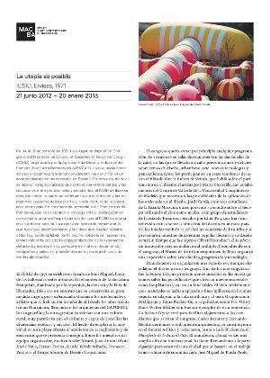 La utopía es posible. ICSID. Eivissa, 1971 [Full de mà]