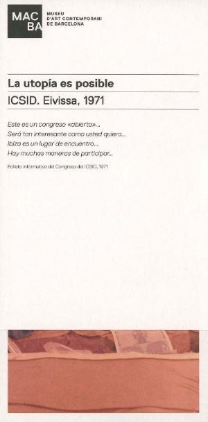 La utopía es posible. ICSID. Eivissa, 1971 [Invitació]
