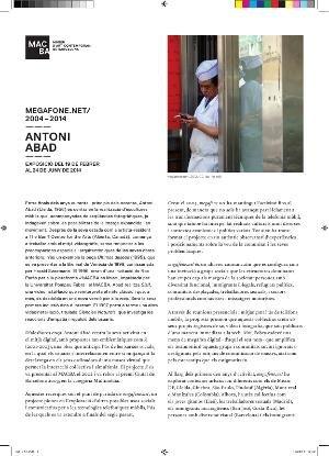 Antoni Abad. Megafone.net/2004-2014 [Full de mà]