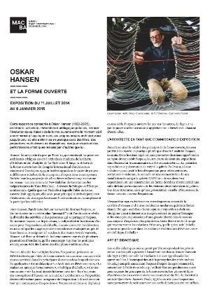 Oskar Hansen. Et la forme ouverte [Full de mà]