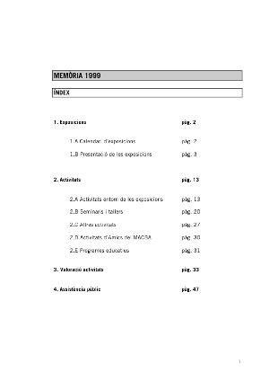 Memòria Programes Públics 1999 [Memòria d'activitat]