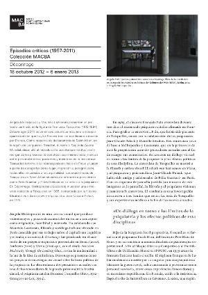 Déconnage -- Episodios críticos (1957-2011). Colección MACBA [Full de mà]
