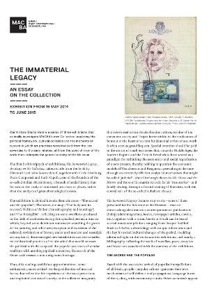 The Immaterial Legacy. An Essay on the Collection [Full de mà]