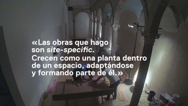 Carlos Bunga [Enregistrament audiovisual d'exposició per mitjans de comunicació]