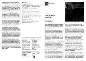 Invocable reality [Full de mà]