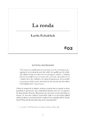 #02 Latifa Echakhch. La ronda [Publicació]