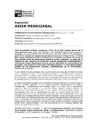Asier Mendizabal [Dossier de premsa]