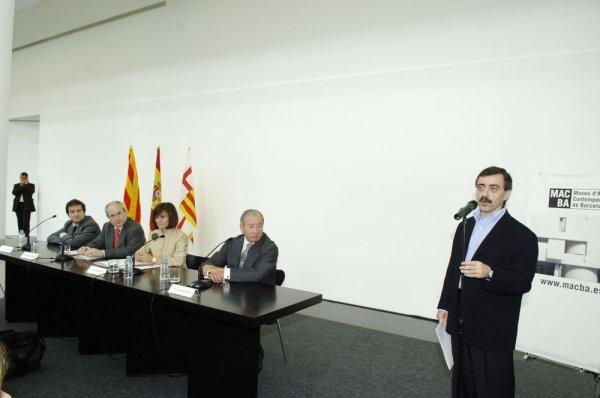 Signatura conveni entre MACBA i Ministeri de Cultura [Reportatge fotogràfic acte institucional]