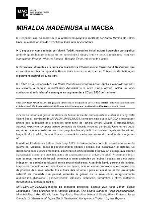 MIRALDA MADEINUSA [Dossier de premsa]