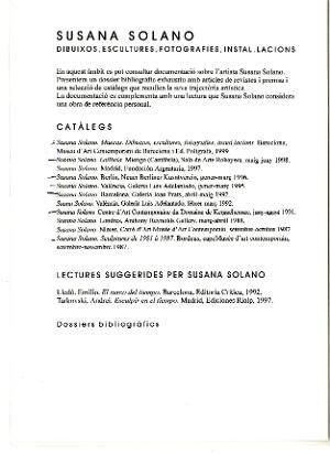 Muecas. Susana Solano [Text sales]