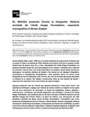 Akram Zaatari. Contra la fotografia. Història anotada de l'Arab Image Foundation [Dossier de premsa]