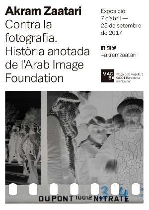 Akram Zaatari. Contra la fotografia. Història anotada de l'Arab Image Foundation [Cartell]