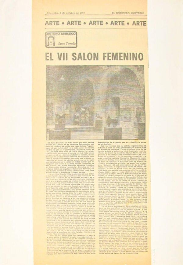 VII Salón Femenino de Arte Actual / A. del Castillo. El VII Salón Femenino / Santos Torroella