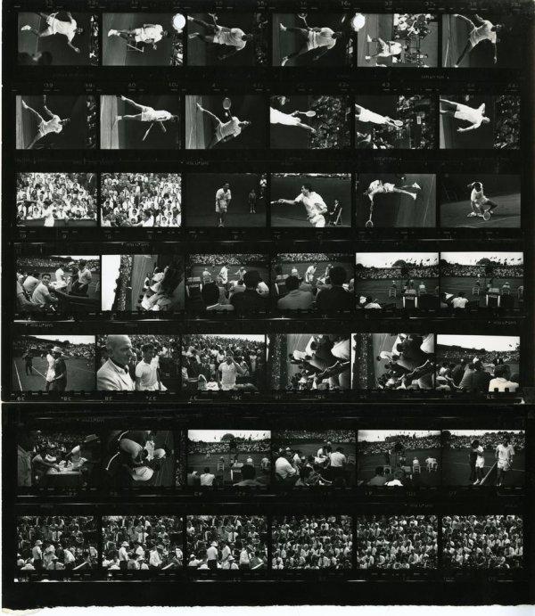 [Partit de tennis Espanya contra Itàlia de la Copa Davis, 1963] [full de contacte 185]