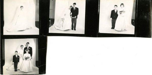 [Retrats d'una núvia i parella de nuvis] [full de contacte s/n]