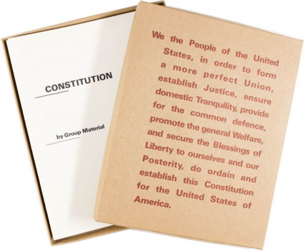 Constitution : October 1-November 14, 1987 / by Group Material