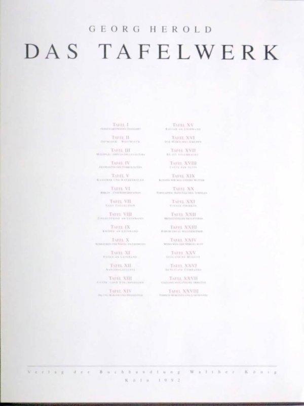 Das Tafelwerk / Georg Herold
