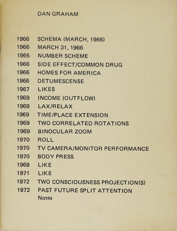 Schema (March, 1966) [...] / Dan Graham