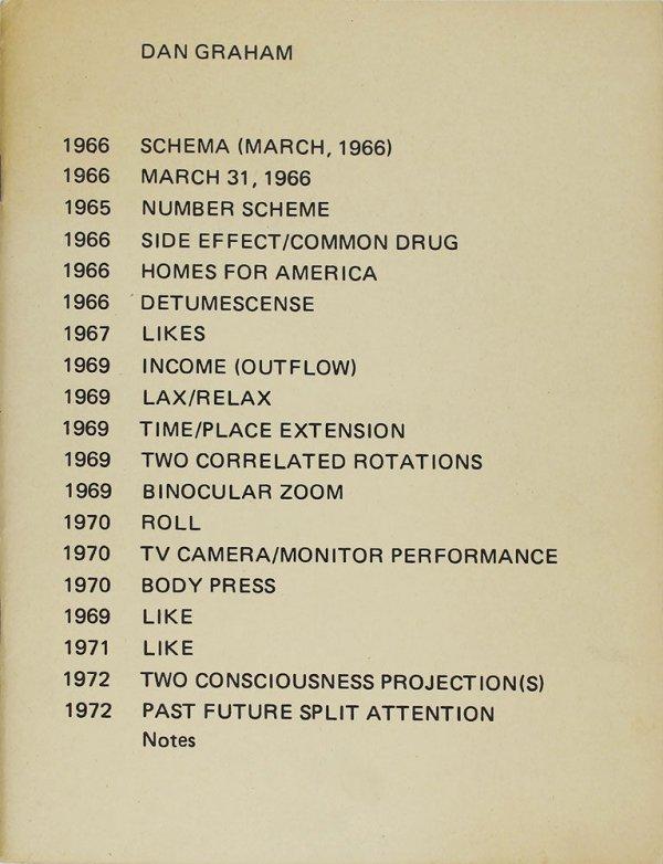 Schema (March, 1966) [...] / Dan Graham