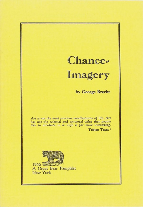 Chance-imagery / by George Brecht
