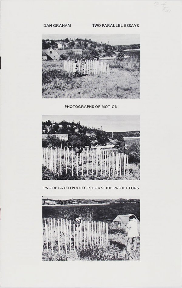 Two parallel essays : photographs of motion : two related projects for slide projectors / Dan Graham