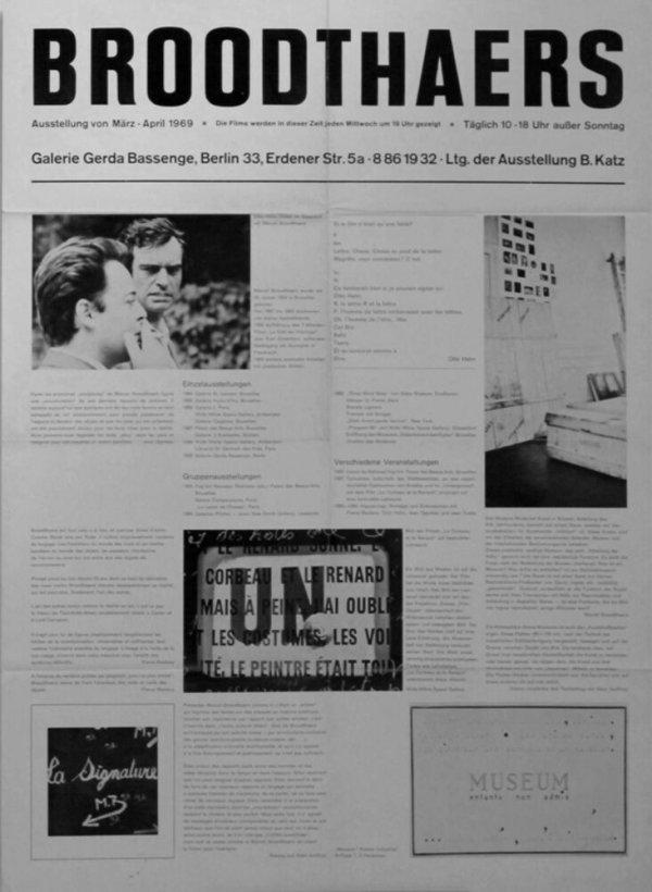 Broodthaers : Galerie Gerda Bassenge