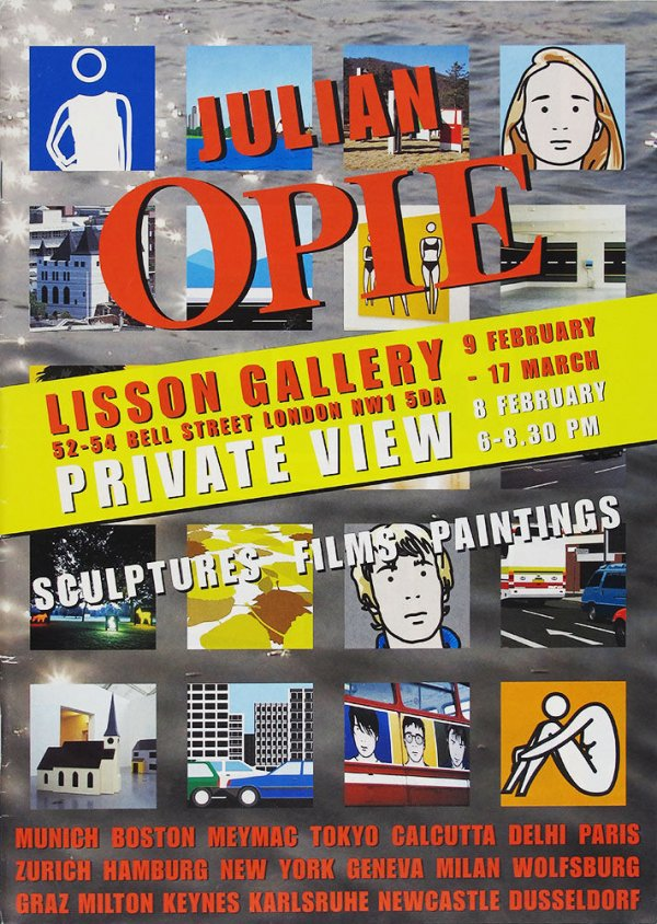 Julian Opie : Lisson Gallery, London : sculptures, films, paintings