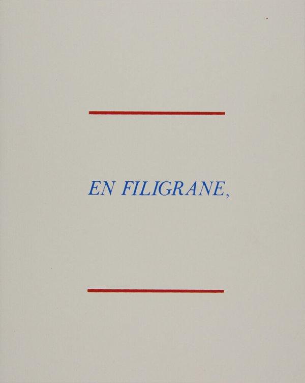 En filigrane / Bernard Villers