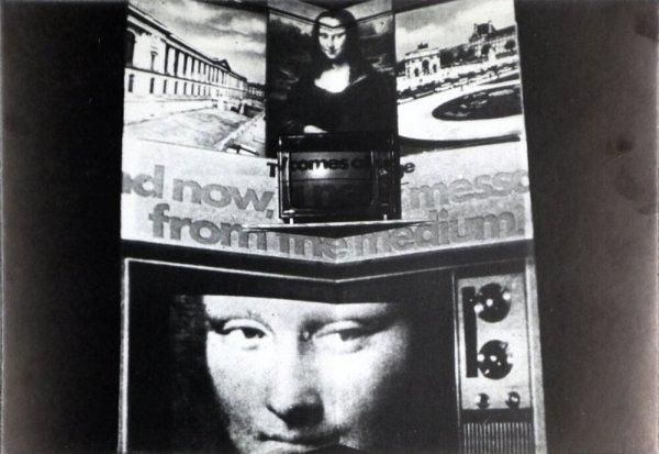 La television (photo de la installation)