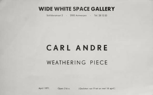 Carl Andre : weathering piece