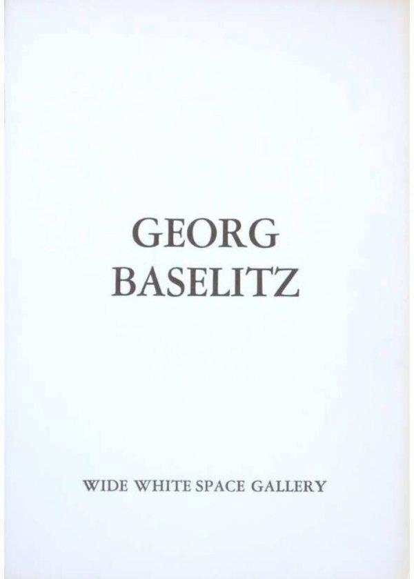 Georg Baselitz : tekeningen en schilderijen, tentoonstelling 6 november to 5 december 1979