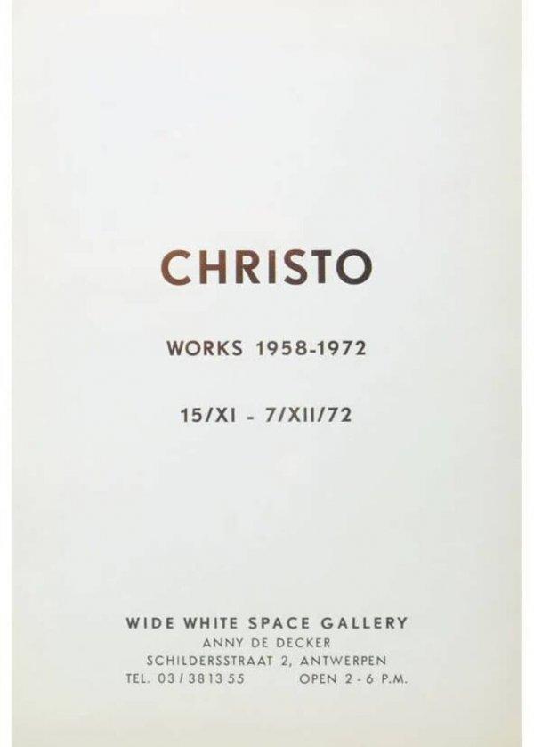 Christo : works 1958-1972 : 15/XI - 7/XII/72