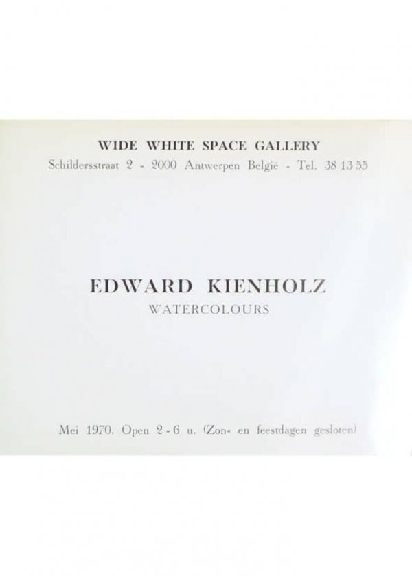 Edward Kienholz : watercolours : Wide White Space Gallery, mei 1970