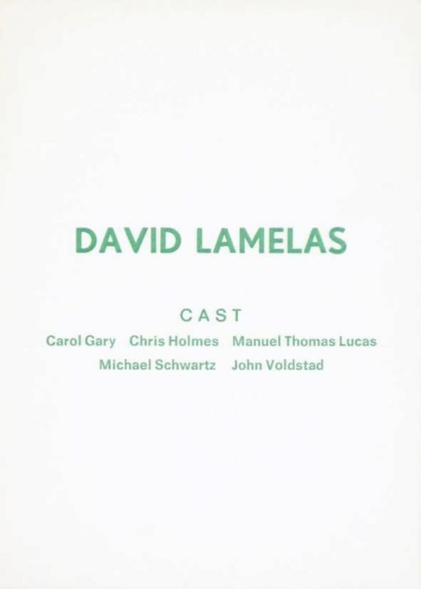 David Lamelas : cast : Wide White Space, 19/3/75 - 14/4/75