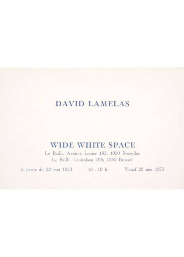 David Lamelas : Wide White Space à partir du 22 mai 1973 : Antwerp-Brussels (people and time), time as activity, 1969
