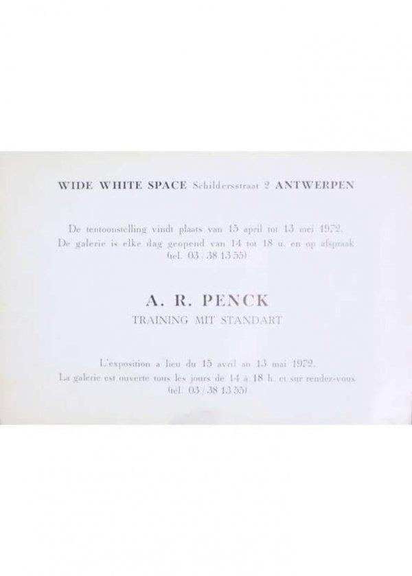 A. R. Penck : training mit standart : l'exposition a lieu du 15 avril au 13 mai 1972