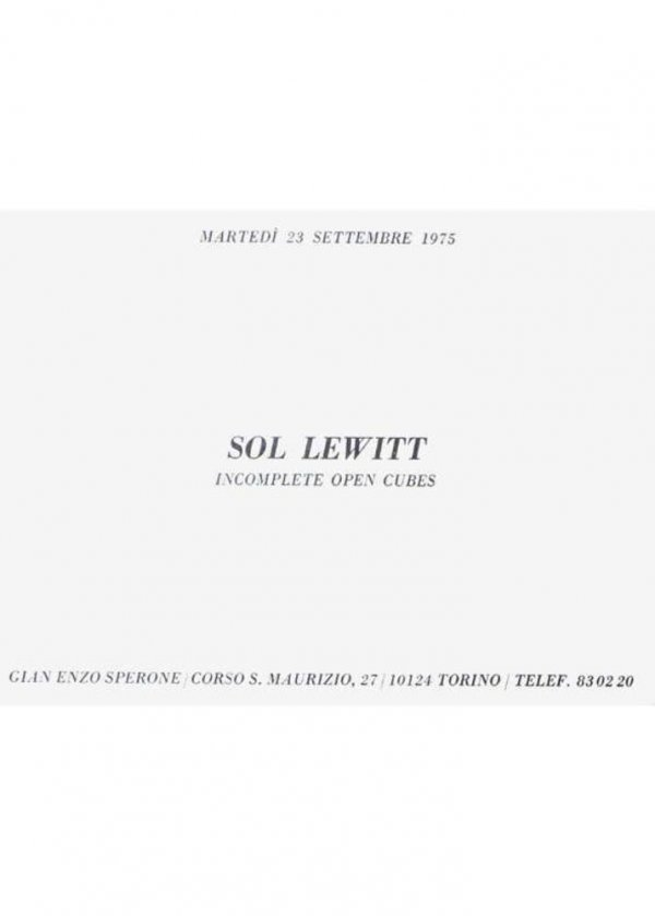 [Sol Lewitt : incomplete open cubes]